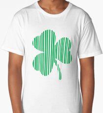 St. Patrick's day: Shamrock Barcode Long T-Shirt
