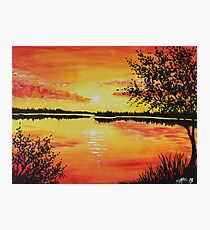 Lake at Sunset Photographic Print
