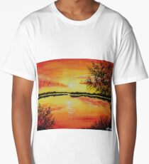 Lake at Sunset Long T-Shirt