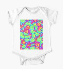 Psychedelic spiral shells One Piece - Short Sleeve