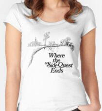 Where the SideQuest Ends Women's Fitted Scoop T-Shirt