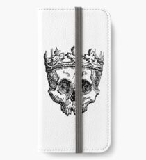 SKULL KING, DEATH, King of the Dead, Skull, Crown, on WHITE iPhone Wallet/Case/Skin