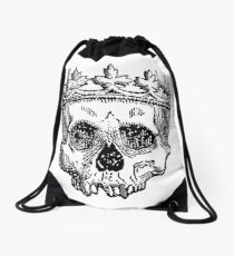 SKULL KING, DEATH, King of the Dead, Skull, Crown, on WHITE Drawstring Bag