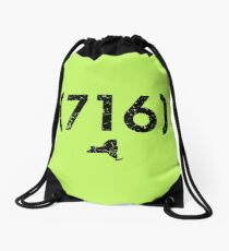Area Code 716 New York Drawstring Bag