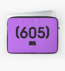 Area Code 605 South Dakota Laptop Sleeve