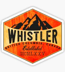 SKIING WHISTLER BRITISH COLUMBIA CANADA SKI SNOWBOARD HIKING CLIMBING ZIPLINE Sticker