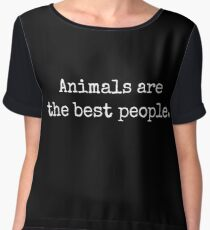 AnimalsAreTheBestPeople Chiffon Top