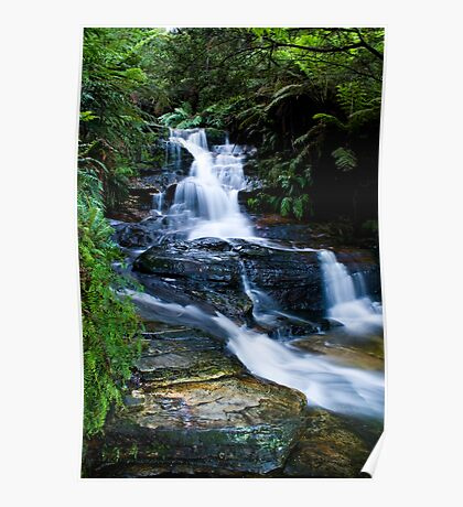 Blue Mountains Attractions - The Leura Cascades Poster