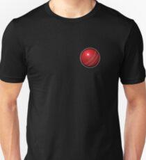 CRICKET, Cricket Ball, hard ball, Sport, Sporting, Game, on BLACK T-Shirt