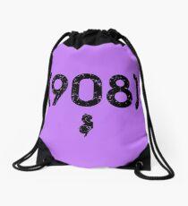 Area Code 908 New Jersey Drawstring Bag