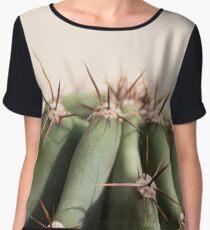 Cactus head macro close up Chiffon Top