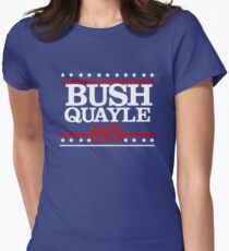 President George H W Bush Campaign 1988 Women's Fitted T-Shirt