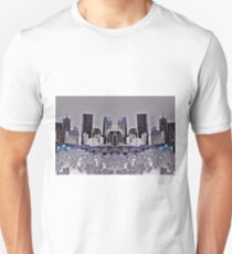 Denver Double Exposure in Purple Unisex T-Shirt