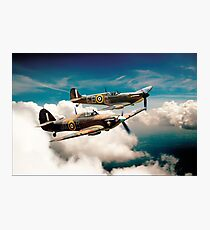 BBMF Spitfire and Hurricane Photographic Print