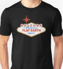 Welcome to Flat Earth Unisex T-Shirt