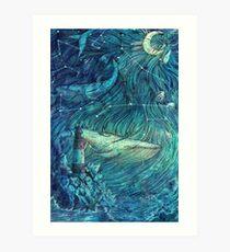 Moonlit Sea Art Print