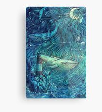 Moonlit Sea Metal Print
