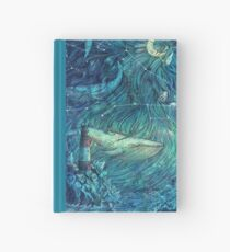 Cuaderno de tapa dura Mar iluminado por la luna