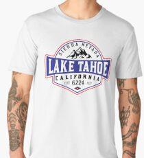 LAKE TAHOE CALIFORNIA SIERRA NEVADA SKIING MOUNTAINS BOATING HIKING CLIMBING SKI Men's Premium T-Shirt