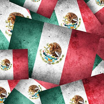 Grunge-Style Mexican Flag  by Gravityx9