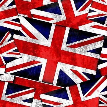 Union Jack British England UK Flag  by Gravityx9