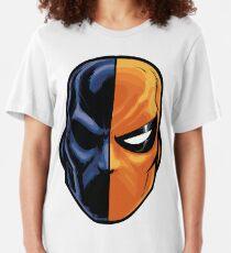 deathstroke - mask (more detail) Slim Fit T-Shirt