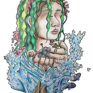 Green Mermaid by fernigan