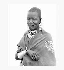 Lady Masaii Photographic Print