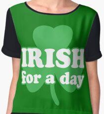 St. Patrick's day: Irish for a day Chiffon Top
