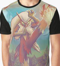 Blaze Kick_Painted Graphic T-Shirt