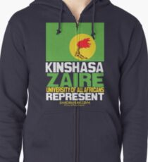 Kinshasa, Zaire, represent Zipped Hoodie