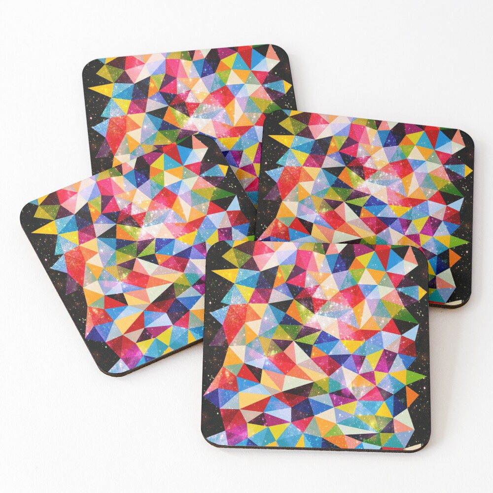 Space Shapes Coasters (Set of 4)