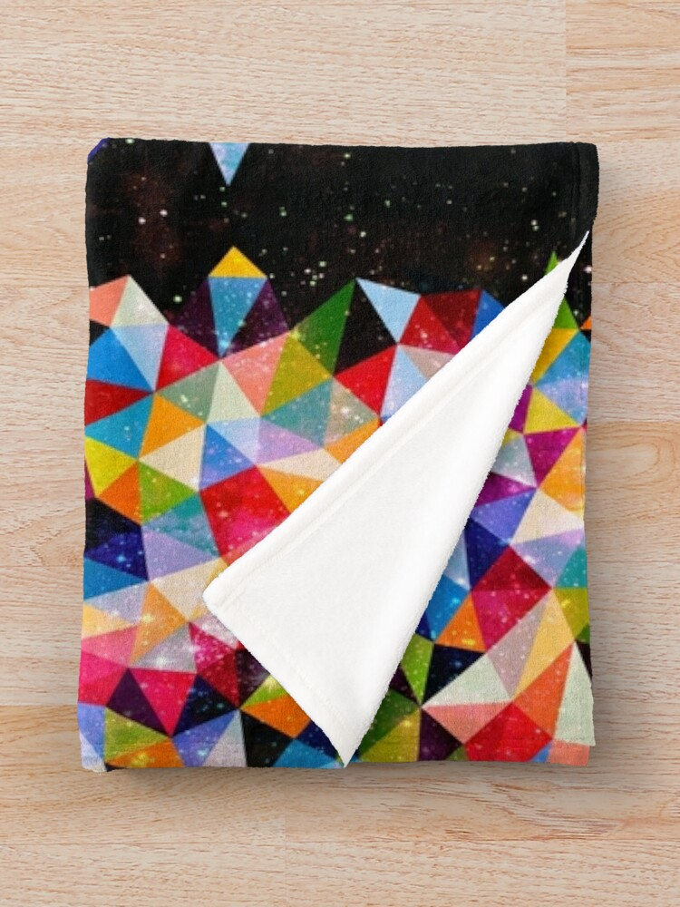Alternate view of Space Shapes Throw Blanket