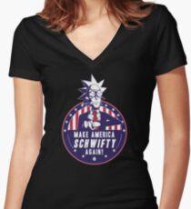 Rick President of US  Women's Fitted V-Neck T-Shirt