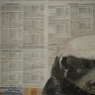 The Honey Badger - Endangered Species Project by Cherie Roe Dirksen