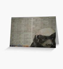 The Honey Badger - Endangered Species Project Greeting Card