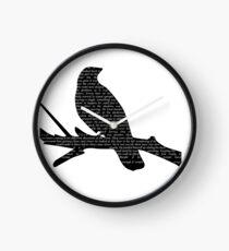 Crow Silhouette Clock