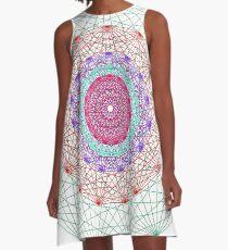 Line Mandala #2 A-Line Dress