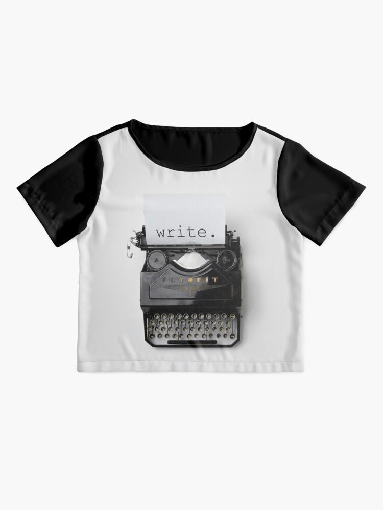 Alternative Ansicht von Schreiben, schreiben, schreiben. Chiffon Top