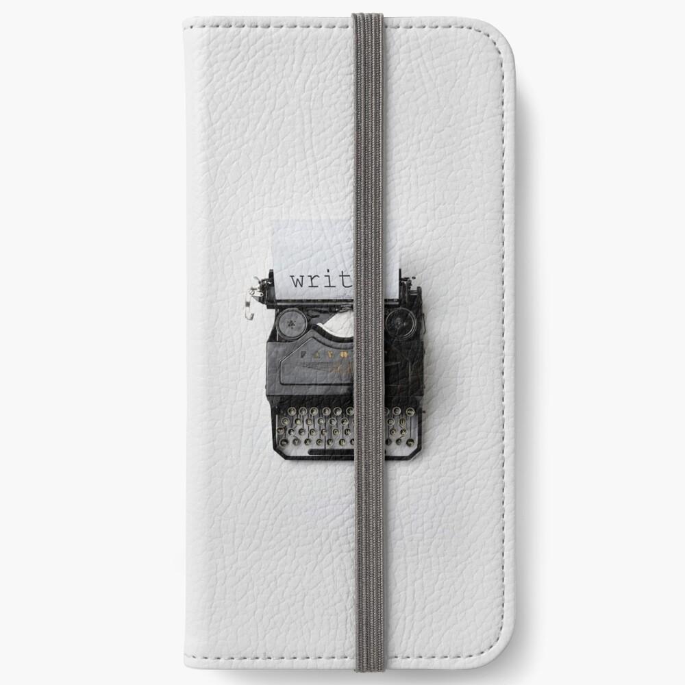 Schreiben, schreiben, schreiben. iPhone Flip-Case