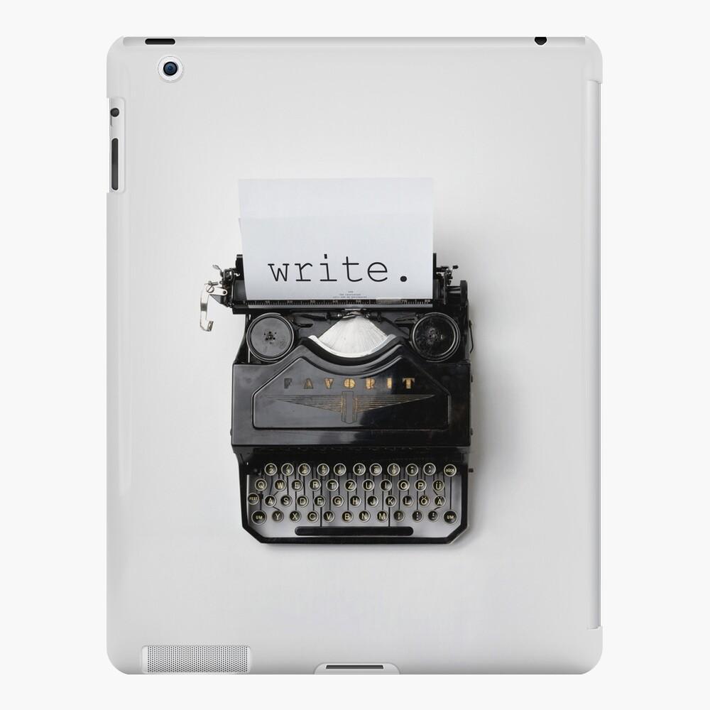 Schreiben, schreiben, schreiben. iPad-Hülle & Skin
