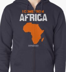 I come from Africa Zipped Hoodie