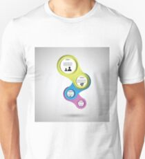 infographic template design Unisex T-Shirt