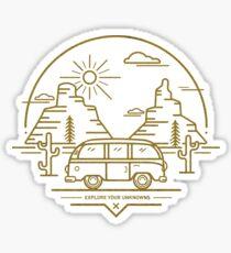 Explore Your Unknowns - Daytime Sticker