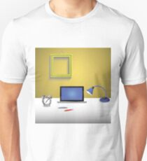 workplace and notebook Unisex T-Shirt
