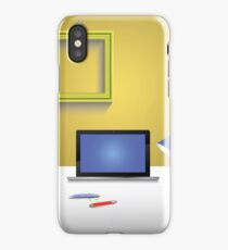 workplace and notebook iPhone Case/Skin
