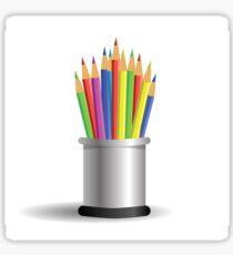 set of pencils Sticker