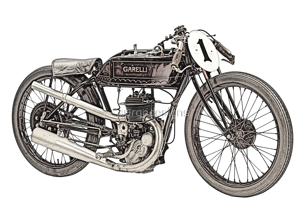 1926 Garelli motorcycle  by surgedesigns