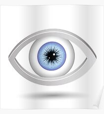 blue female eye Poster