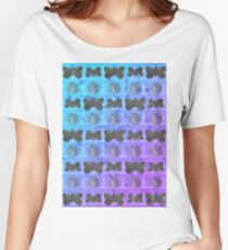 WITCHCRAFT MOTH AND CRYSTAL PATTERN Women's Relaxed Fit T-Shirt